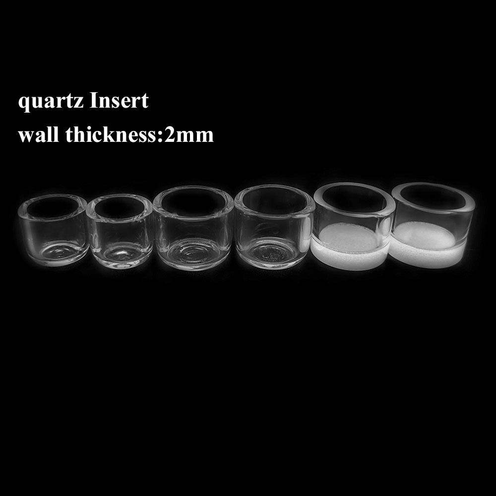2 millimetri parete Spessore quarzo Inserire con 15,5 millimetri 18,8 millimetri OD quarzo Somking Accessori per inserti per DAB Rig quarzo Banger Nails