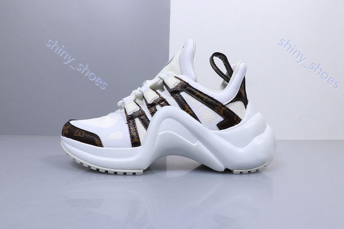 Louis Vuitton sports shoes di moda di alta qualità di aumento di altezza Archlight Sneakers pista scarpe da donna spessi Creepers della piattaforma femminile appartamenti casuali