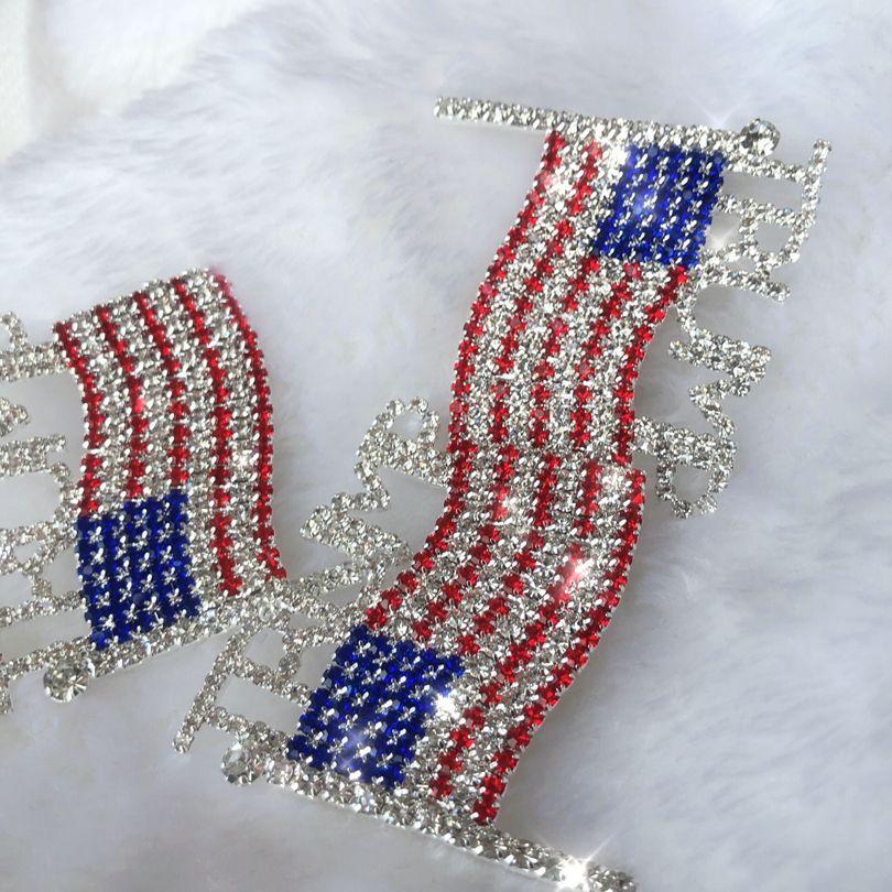 Trump Брошь Pin Алмазного флаг Брошь Rhinestone Письмо Trump брошь Кристалл Badge пальто платье Pins Одежда Мода ювелирные изделия GGA3593-1
