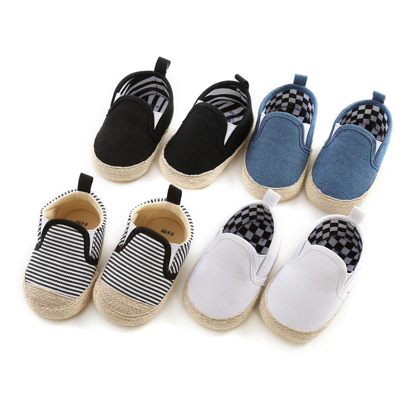 New Fashion Baby Boys Shoes Baby Cotton Soft Sole Non-slip Toddler Crib Shoes Kids Infant First Walker Prewalker