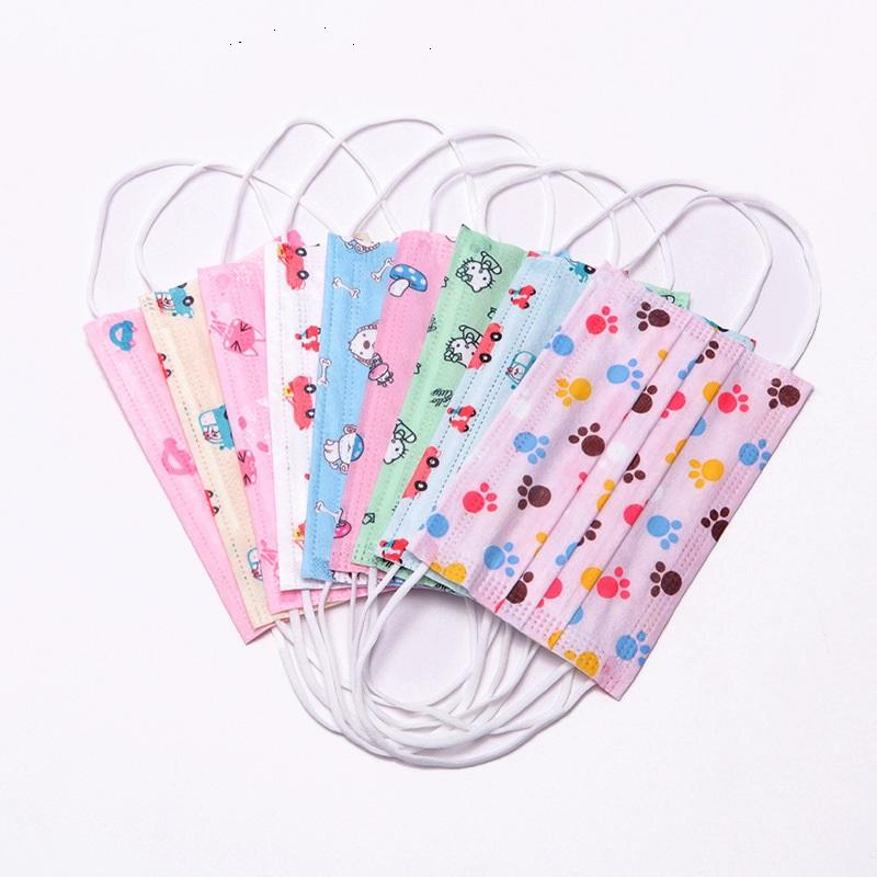 Children kid Disposable Face Masks design face mask cartoon masks kid mask 3-layer mouth mask with double pack monkey