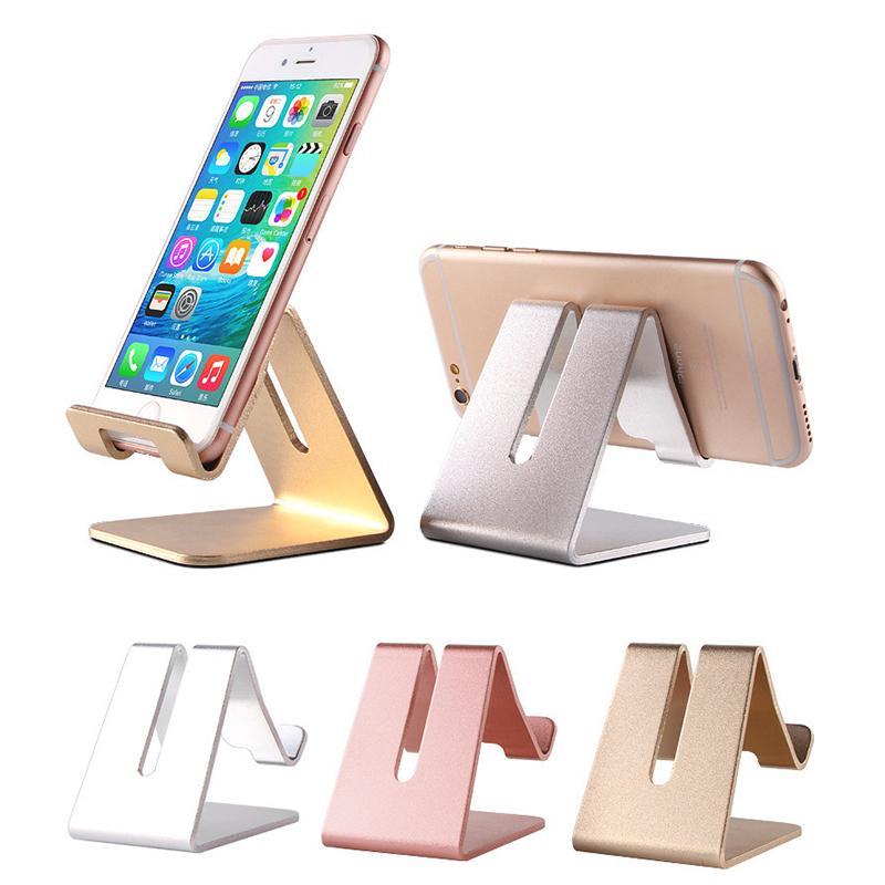 Alüminyum Alaşım Cep Telefonu Danışma iPhone X 8 7 Tablet Cep Telefonu Tutucu Mounts Parantez İçin Masaüstü Tutucu Stand