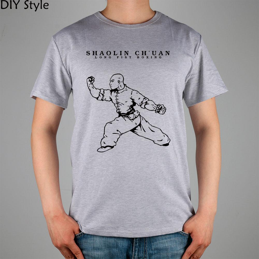 SHAOLIN CHUAN de manga corta camiseta de la camisa superior de Lycra de algodón para hombres T Estilo nueva DIY