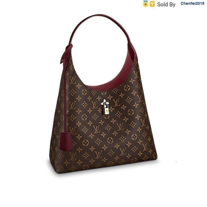 chenfei2019 YL2Z Lady Wine Red Shoulder Bag Canvas Leather M43547 Totes Handbags Shoulder Bags Backpacks Wallets Purse