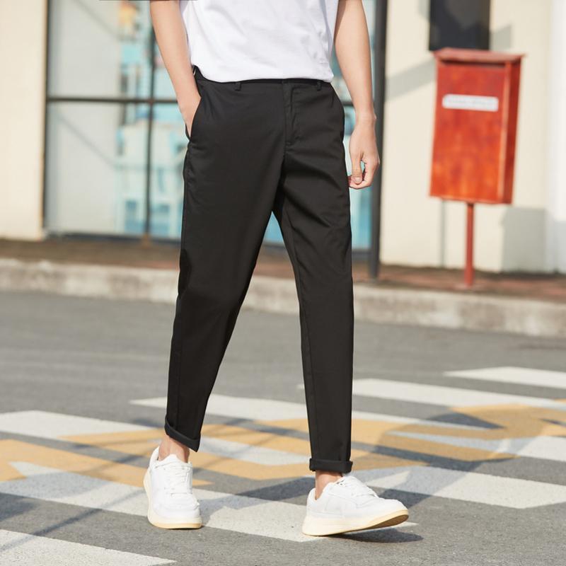 Men's Pants Semir Casual Men 2021 Summer Fashion Simple Straight Comfortable Stretch Nine Tide