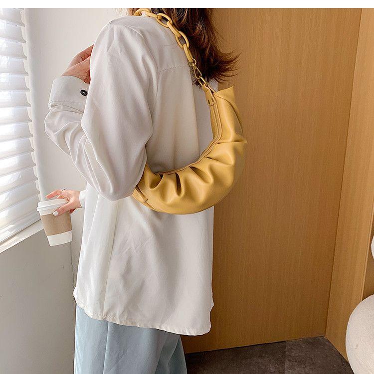 Nouveau épais chaîne design PU Sacs Crossbody cuir pour femmes 2020 Petit Sac à bandoulière Messenger Femme Personnalité Sac à main