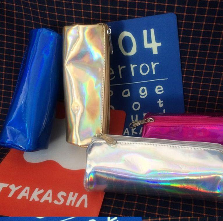 Корея Harajuku Street съемки Красочный лазерный макияж Мешочек тенденции моды сумка