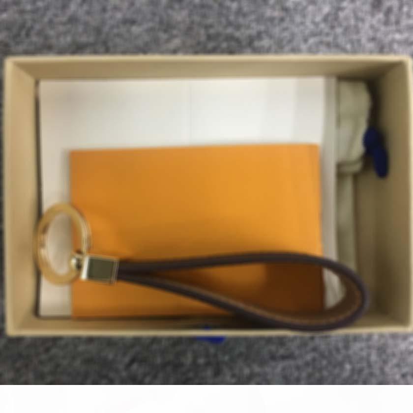 Designer keychain L Brief Leder Schlüsselanhänger Auto Mode Schlüsselanhänger Lanyard Luxus nett Schlüsselmappe Kette Seilkette portachiavi mit box58MI