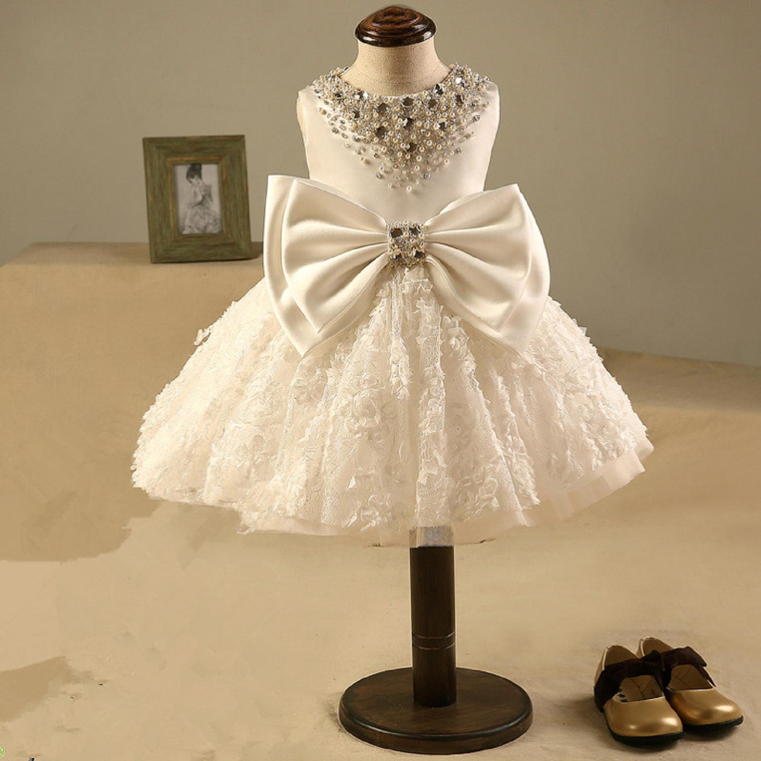 Luxury Baby Girls Pageant Dress For Christmas Costume Sleeveless Princess Dress Ball gown Flower Girl Dresses