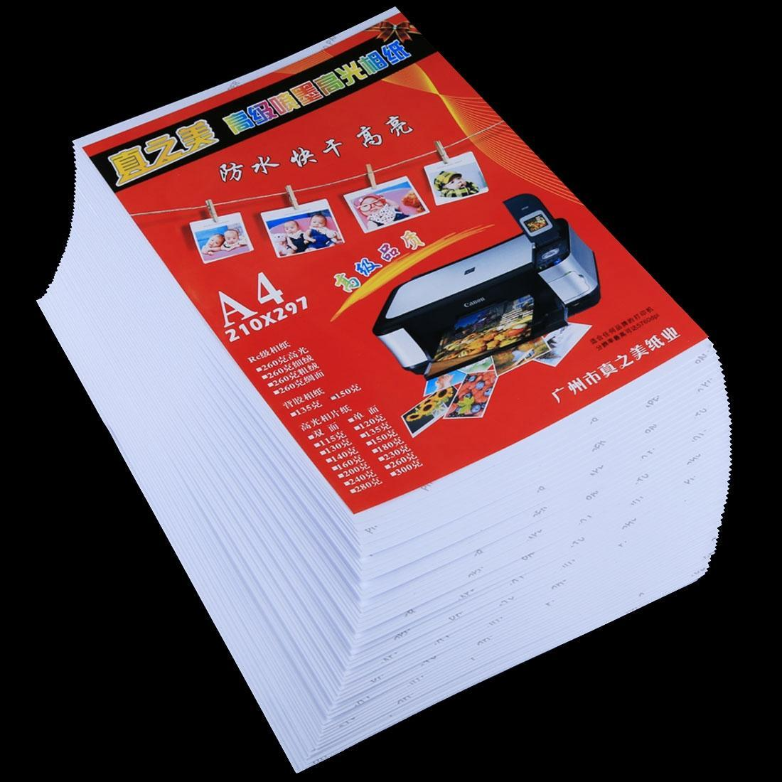 50 x 11,7 Sheets 8,3 pouces A4 imperméable Papier photo brillant pour imprimantes jet d'encre
