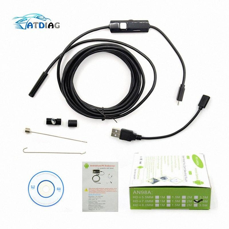3 In 1 Endoscope USB Type-C Inspection Camera Borescope for Android Phone P F2