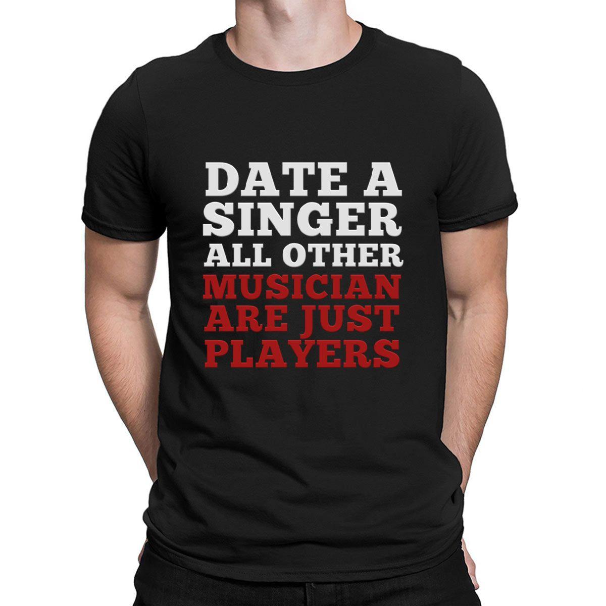 Chemises drôles Slogan drôle Sarcastique chanteur Chemises T-shirt célèbre Fashion Designer Plus Size Cotton