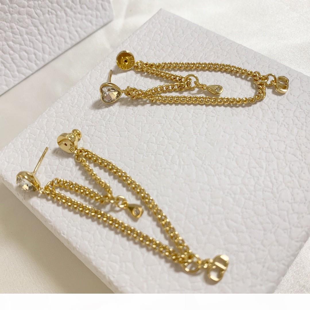새로운 뜨거운 판매 체인 술의 패션 디자이너 귀걸이 럭셔리 디자이너 쥬얼리 여성 귀걸이