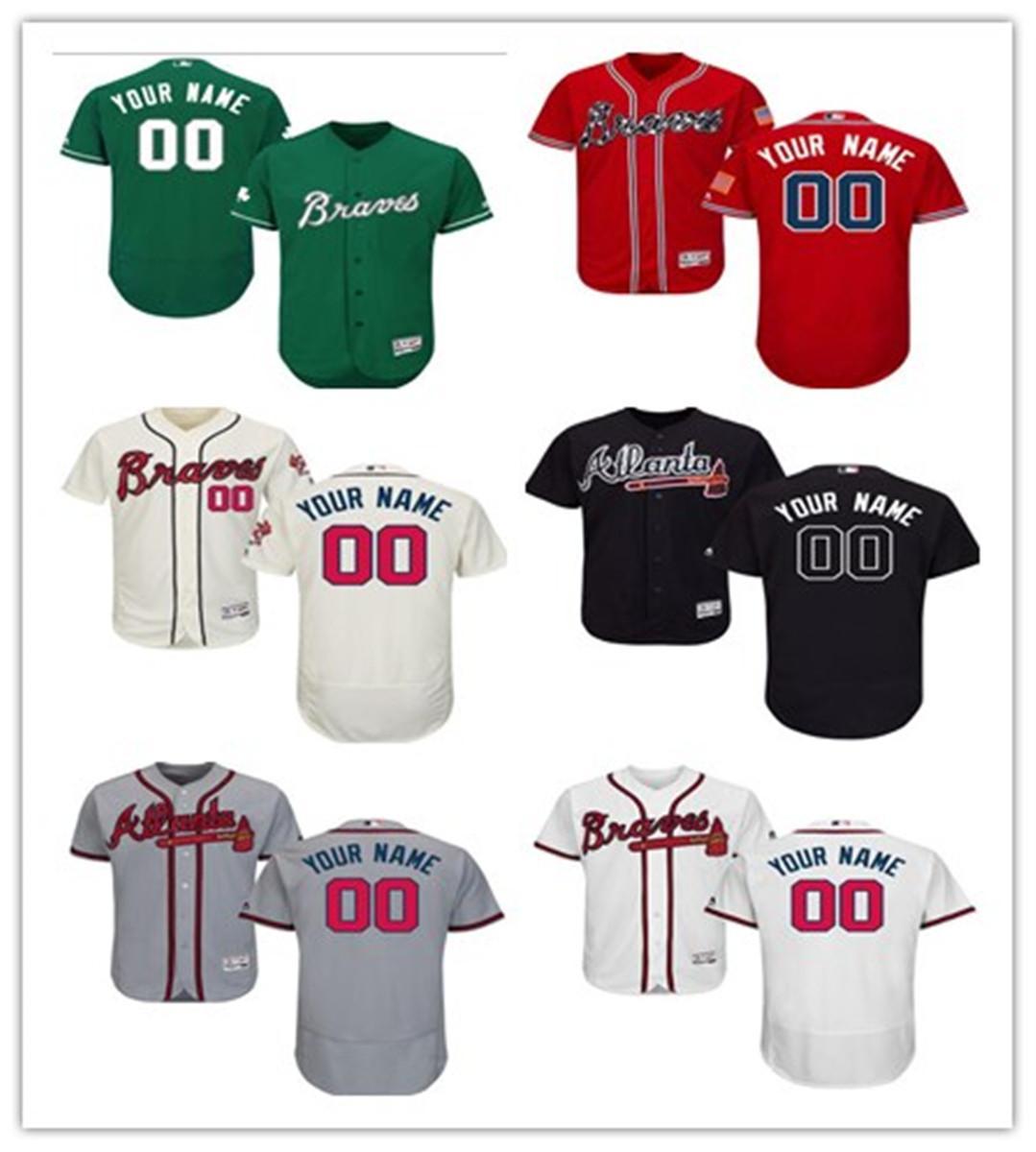 personalizado nenhum número nome top-quality jérsei de beisebol Atlanta #Brave desgaste de homens baseball mulheres camisola da juventude libertar shi