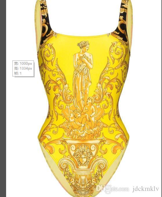 2020 neueste reizvoll One Piece Womens Badeanzug Bikini beste Qualität VSC Golddamen weibliche Badeanzug Strand-Badebekleidung Lassen Sie Verschiffen V61