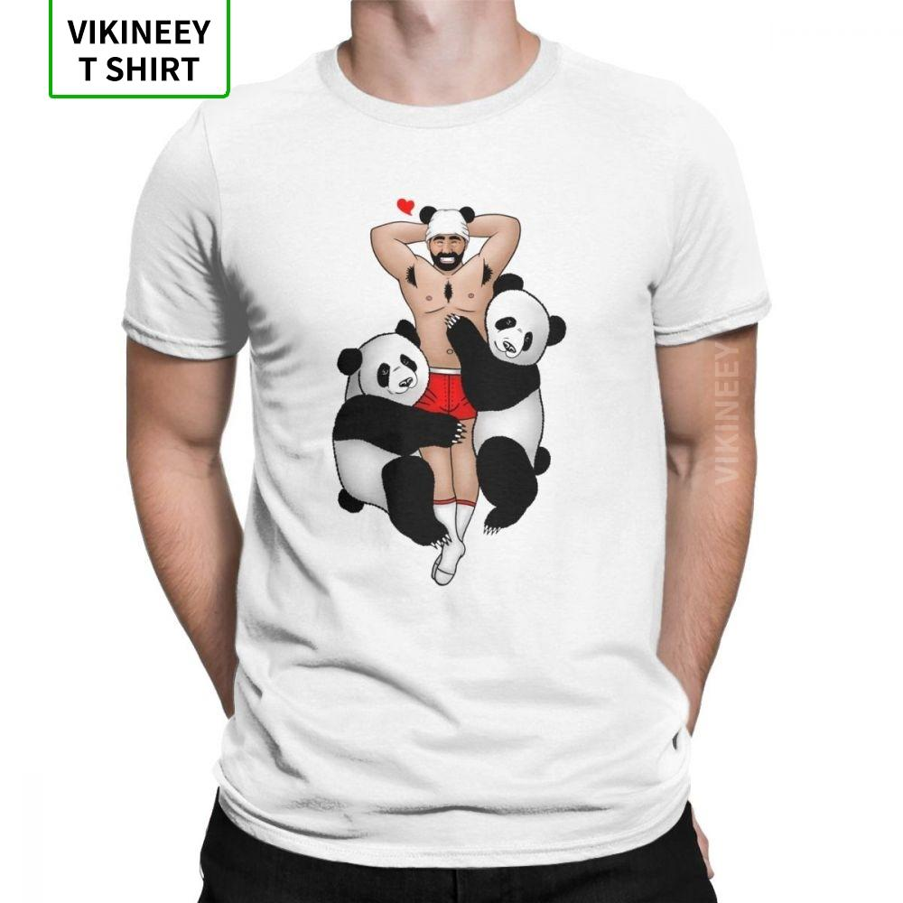 Panda amante do vintage camiseta Homens Urso Gay Orgulho LGBT Grrr Gaycomics manga curta Tops Tamanho UE Tees T-shirt Cotton Crewneck