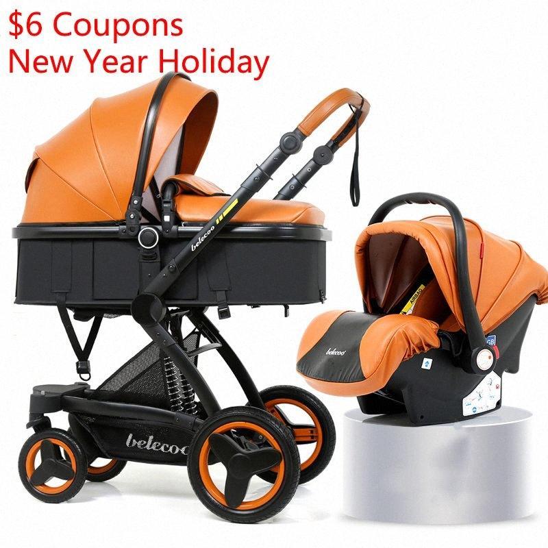 Multi-fonctions de bébé poussette 3 en 1 Voyage Haute Qualité Can Sit Can Lie Poussette bébé COGd #