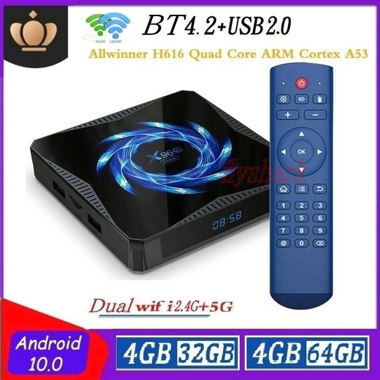 X96Q Max Android 10.0 TV Box Allwinner H616 4G+32GB/64GB Dual Wifi 2.4G+5G Bluetooth 5.0 X96Q Caja de tv android
