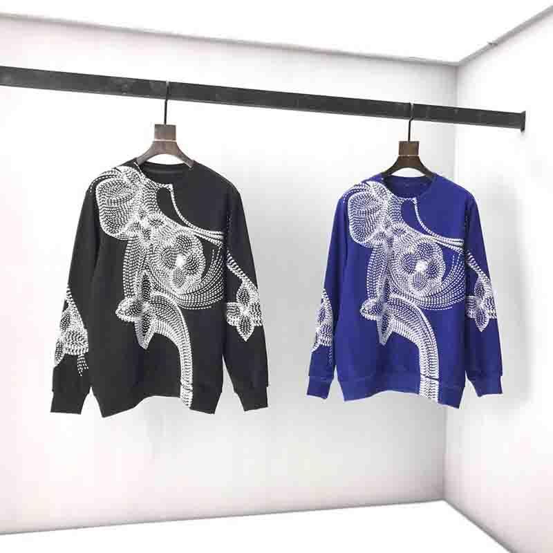 2020 영국 패션 최신 스타일의 봄 여름 큰 꽃 자수 스웨터 후드 캐주얼 통기성면 위에 파리가 티 망