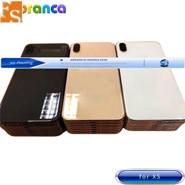 Mejor Calidad para iPhone 8 8PLUS X XR XS XS MAX MAX BACK VESTE MEDIO MEDIO MEDIO CHASIS COMPLETO COMPLETO MONTAMIENTO CUBIERTE DE LA CUBIERTA DE LA BATERÍA
