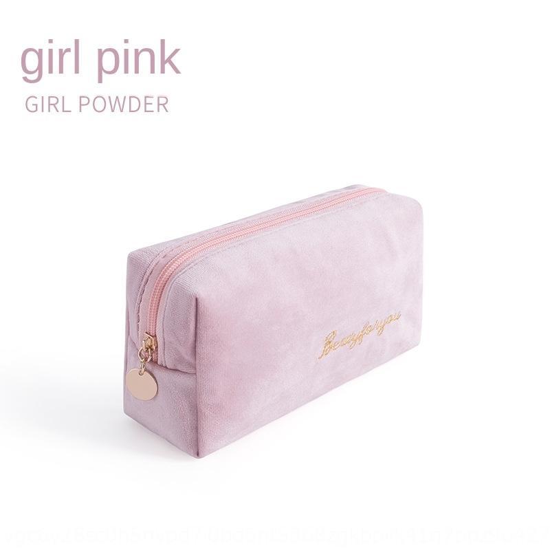 Flanelle stockage main maquillage sac à main portable style nordique ins grande capacité sac de rangement femme
