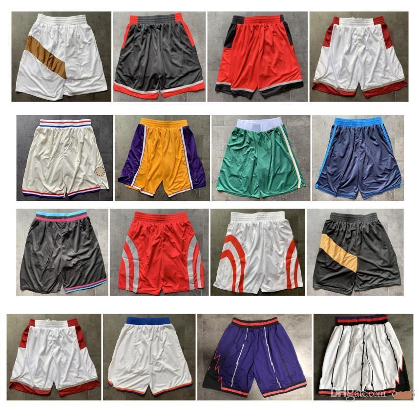 ¡Calidad superior! 2020 Team Shorts Shorts Men Shorts Sports Shorts College Pants Blanco Negro Negro Rojo Púrpura Amarillo