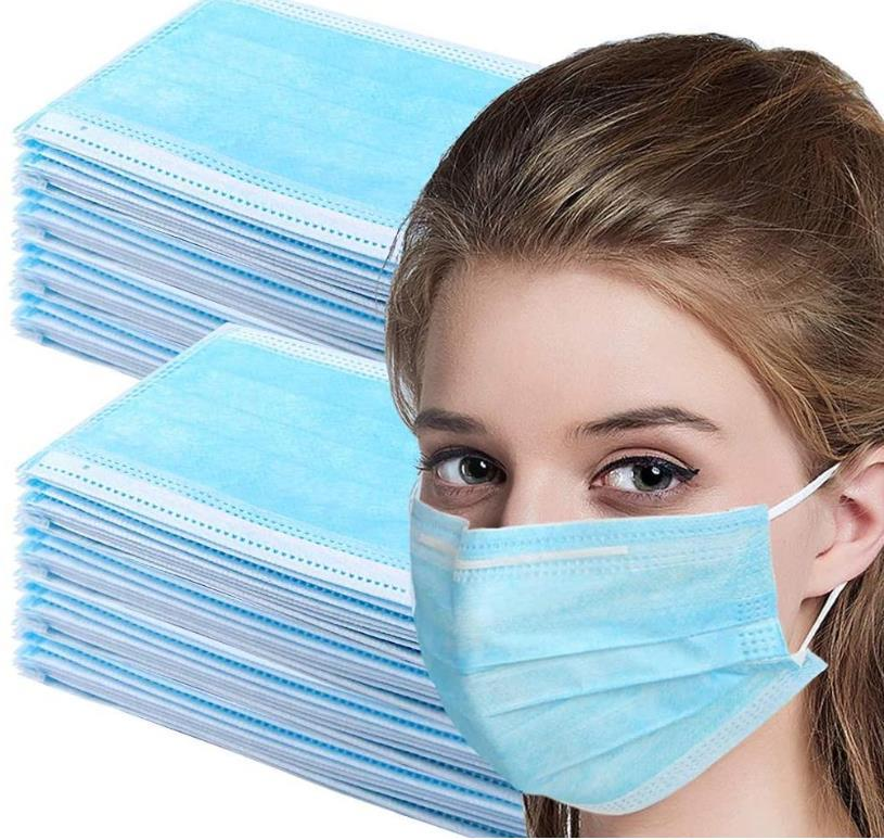 New Style Disposable Adult Mask 3-Layer Thickened Non-woven Elastic Earring Disposable Mask Breathable Comfortable Dust Saliva Free Shipping