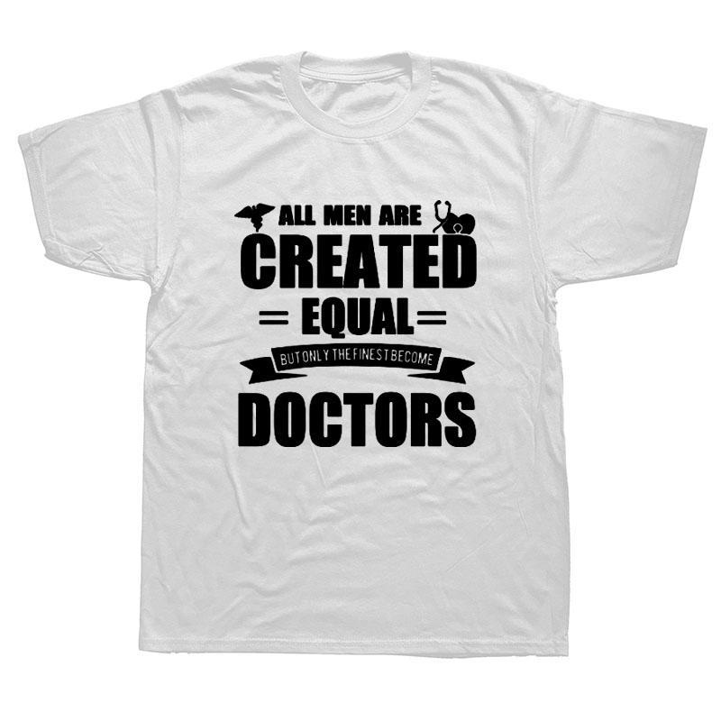 El doctor médico divertido de la camiseta de algodón para hombres Streetwear de gran tamaño de manga corta cuello redondo Camiseta de HIP HOP Camiseta Camiseta