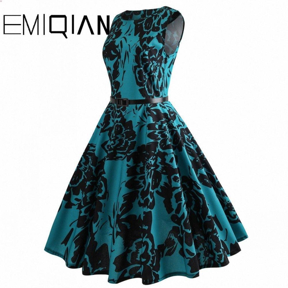 Mode Frauen ärmel Blumen-Druck-Bankett-Kleid Einfache knielangen Blumen Heimkehr-Kleid GYKO # Drucken