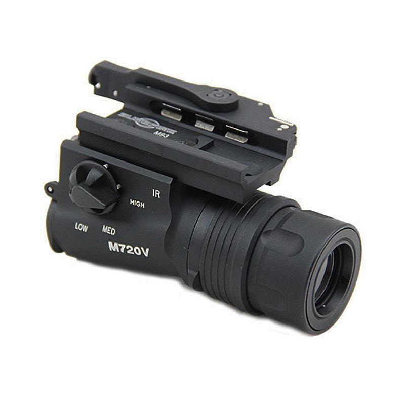 Tactical SF M720V LED Gun Light Hunting Rifle Pistol Flashlight With Markings Black
