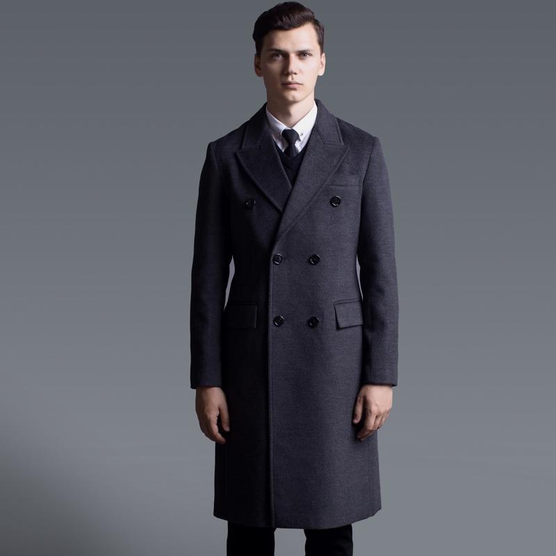 패션 캐시미어 남자 트렌치 6XL 남성 코트 럭셔리 더블 브레스트 긴 스타일 솔리드 컬러 남성 재킷과 코트 플러스 크기