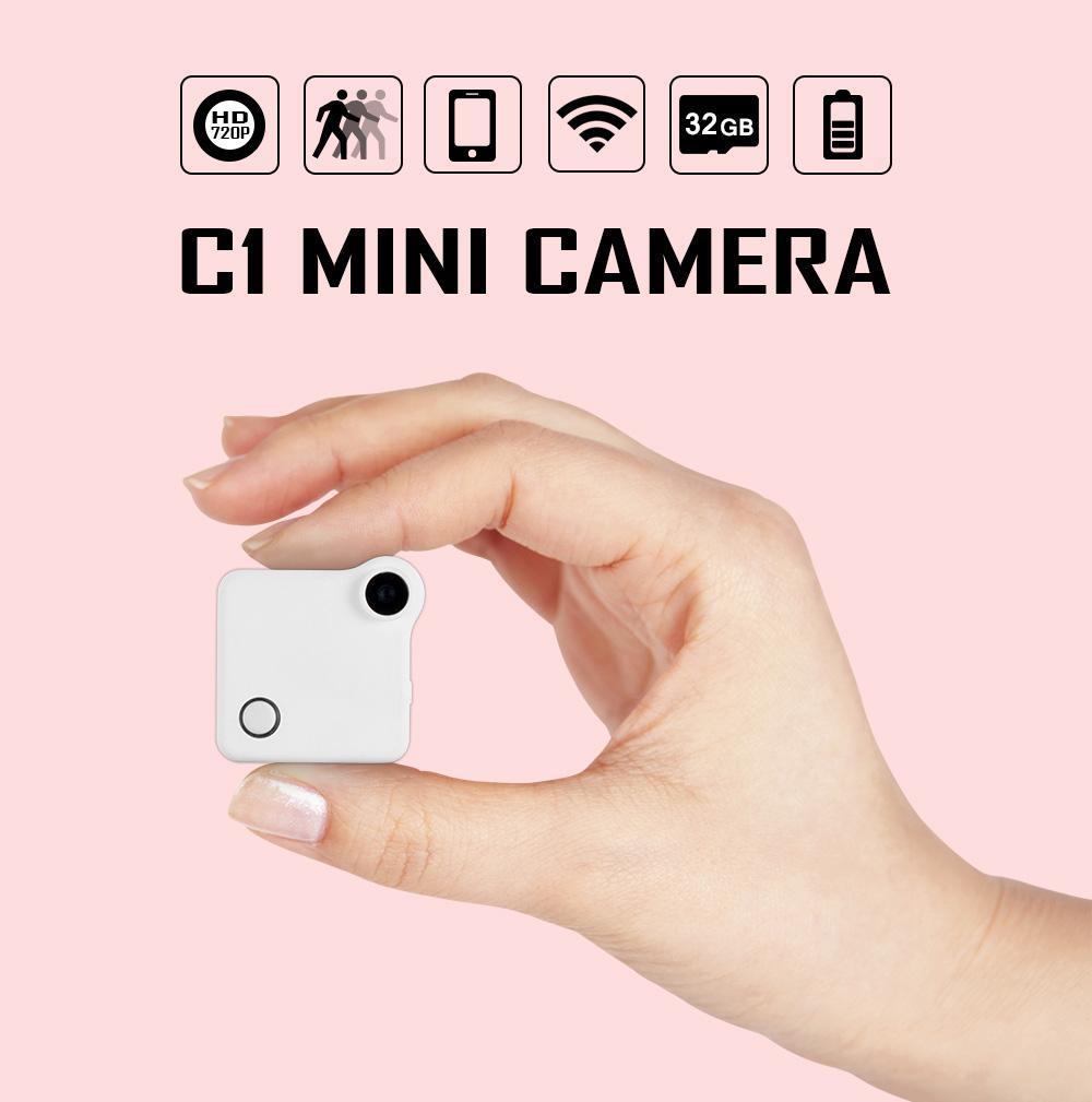 WIFI IP Cam Mini DVR HD 720P Action C1 Camera Motion Sensor Loop Recording MP4 H.264 Micro Camera support Micro SD Card