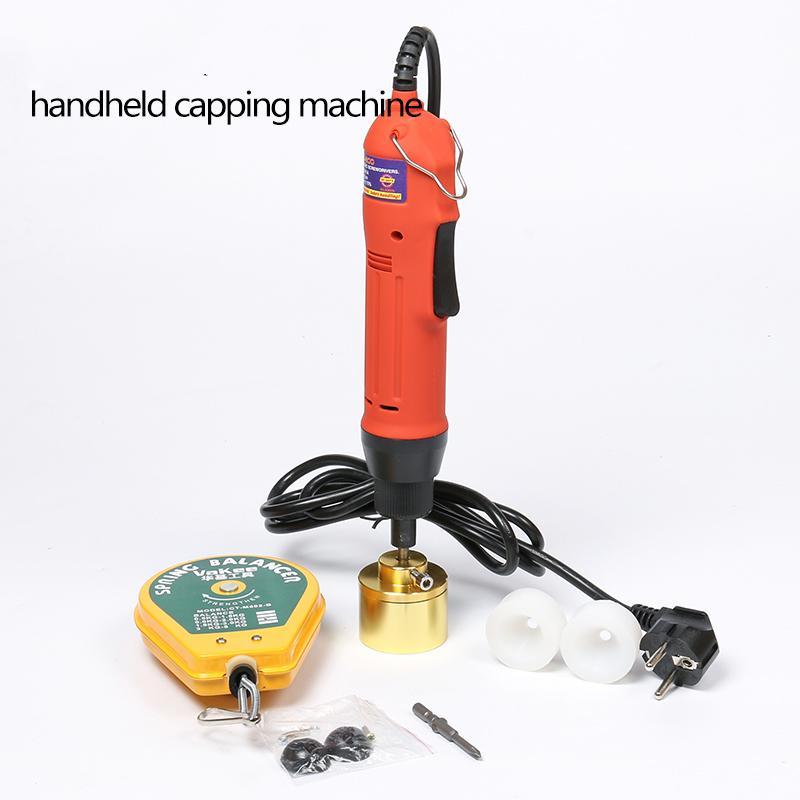 DHL grátis! Manual Semi Garrafa automática frasco de plástico elétrica Capping Machine (10-30mm) Garrafa Capper Cap Screwing Selagem