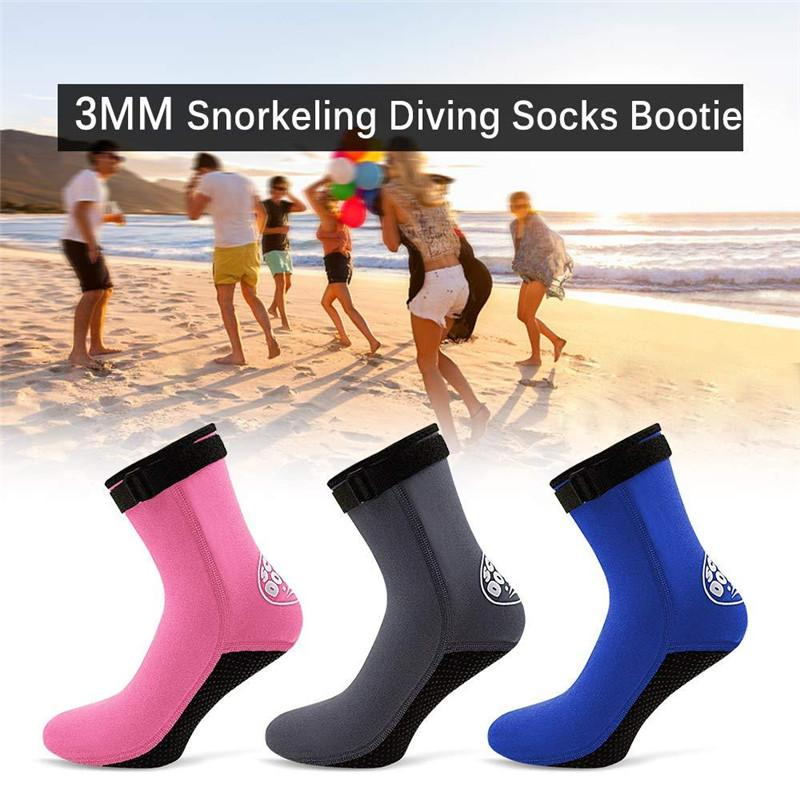 3MM Neoprene Diving Socks Boots Water Shoes Beach Booties Snorkeling Swimming