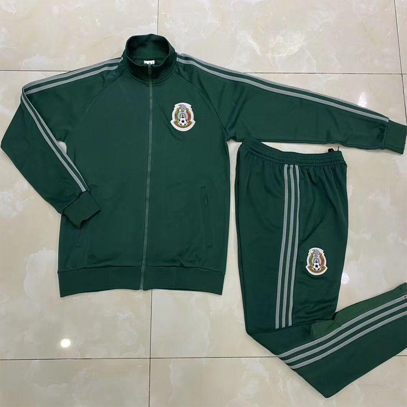 2020 2021 mexicaine H.LOZANO H.HERRERA R.MARQUEZ kit veste de football 20 21 Chicharito A.GUARDADO LAINEZ ensemble survêtement Vestes vert football