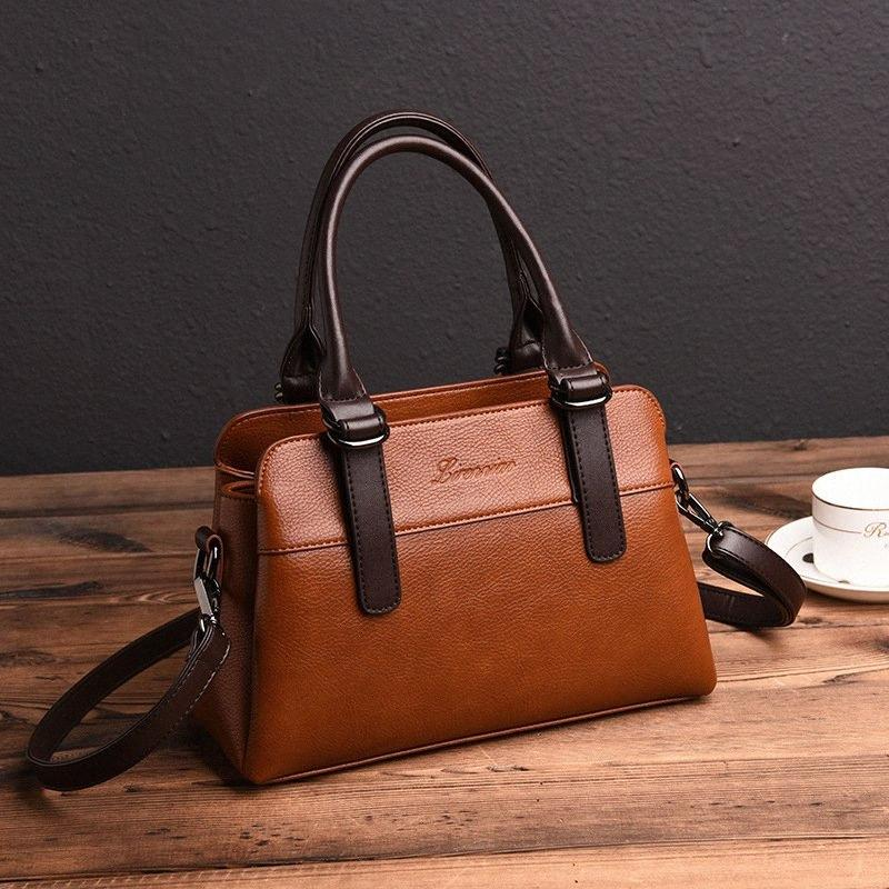 Европейские и американские женские сумки 2020 Новая сумка плеча дамы Посланника Сумочка Сумочка 4NXk #