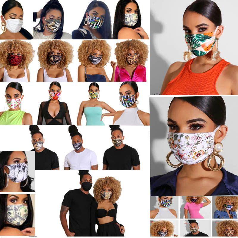 Máscara Facial Floral Imprimir Moda Máscaras homens e mulheres Designer máscara máscaras Lavável Dustproof Equitação Ciclismo Esportes de protecção 24 Estilo HH9-3173