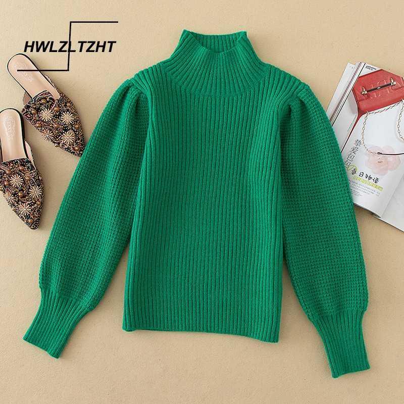 HWLZLTZHT autunno Sweter Loose Women Pullover morbido Knitting Jumper donne Maglieria Top Warm Tricot maglione oversize