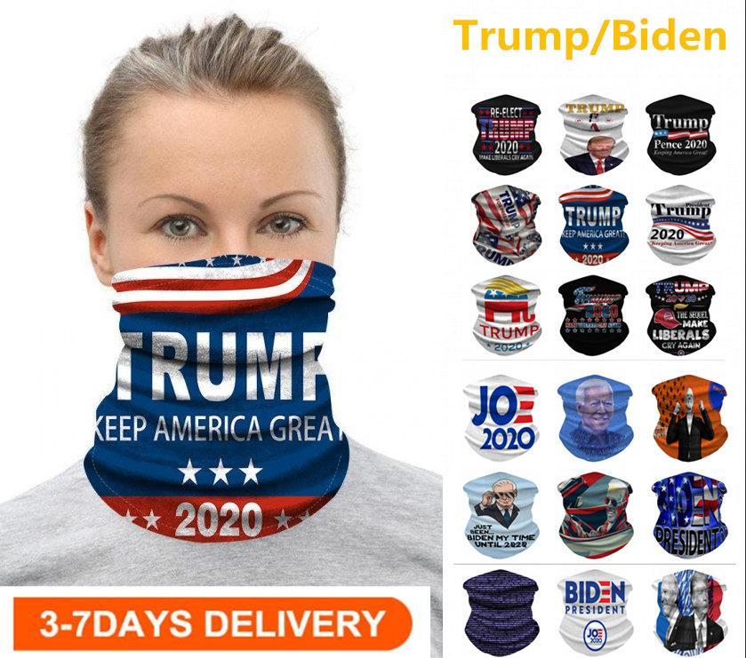 США STOCK Велоспорт Маска Шарф Unisex Бандан мотоцикл шарфы платке шея маска для лица Открытого Trump / Байден Keep America Great 2020 выборы