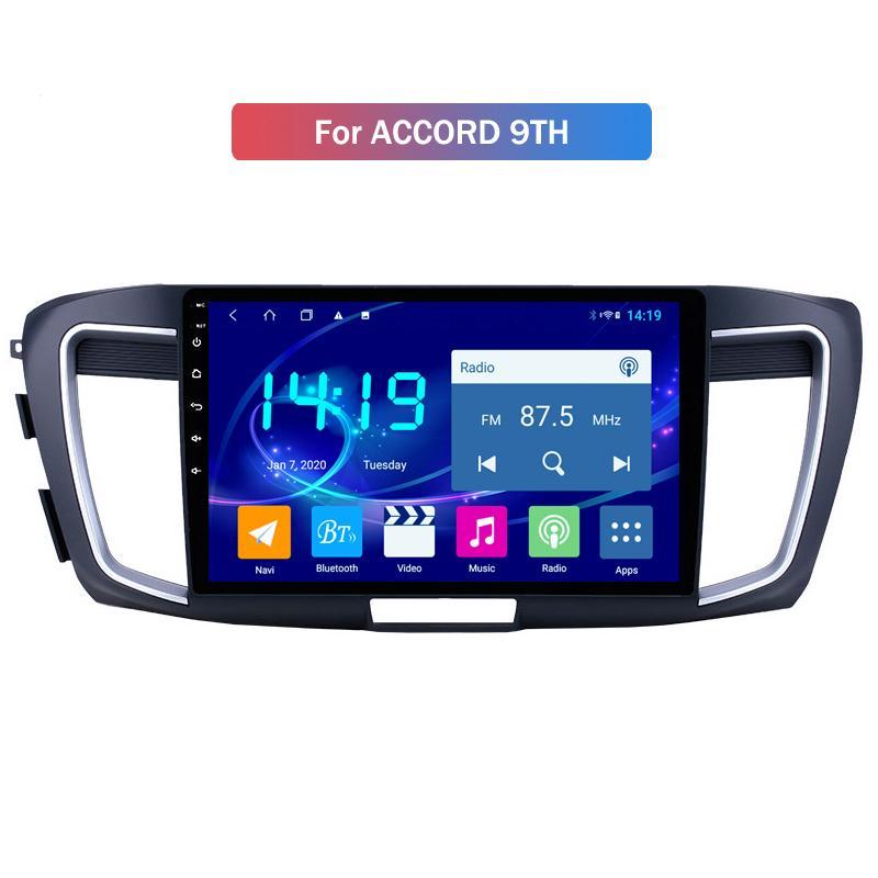 IPS player multimídia do carro da tela para Honda Accord 9TH Stereo Chefe Unidade de DVD do carro GPS Sat Radio Nav BT USB RDS AM / FM SWC