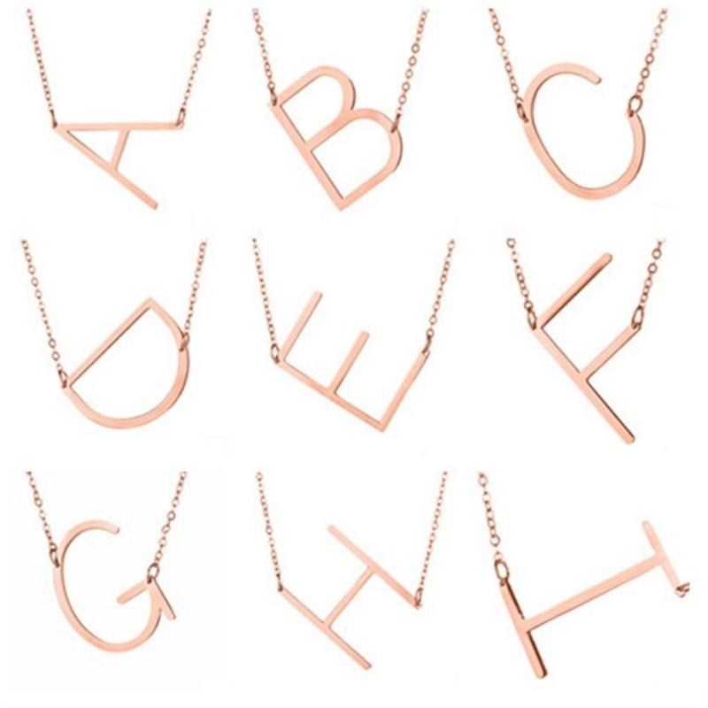Neueste IN Fashions Mädchen Halskette 26 englischen Buchstaben von A bis Z Gold-Silve Rose Gold mischten Art-Entwerfer-Frauen-Haar-Zusätze