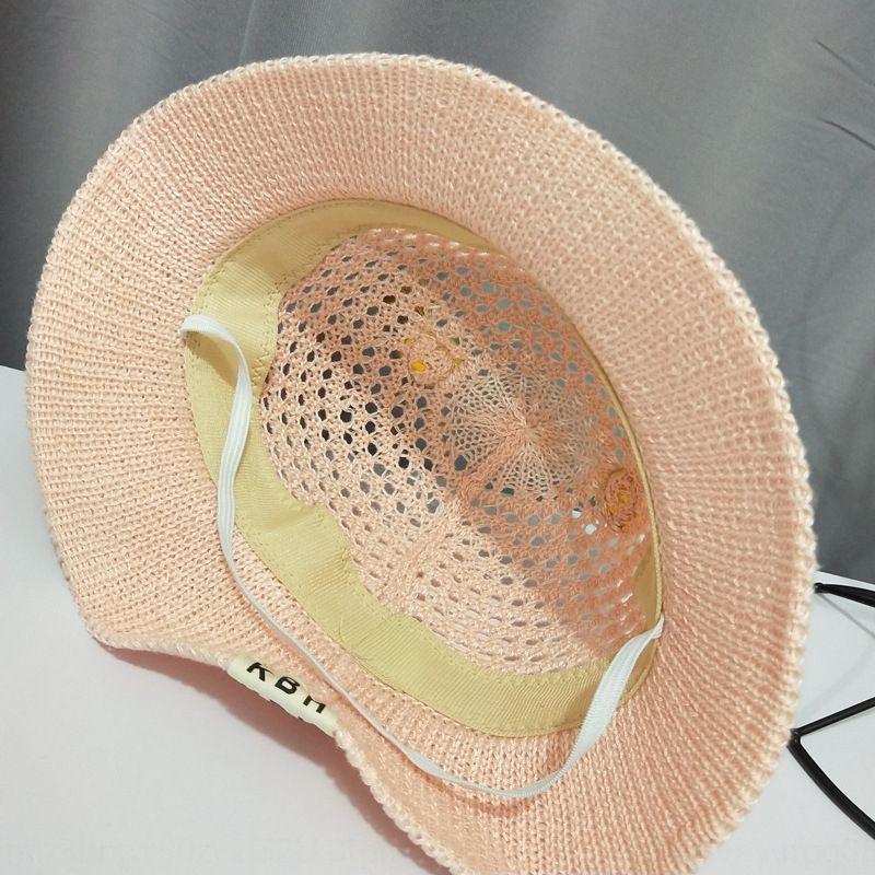Bebek balıkçı Straw kova kova balıkçı yaz güneşi nefes sevimli kız bebek pamuk hasır şapka çocuk geyik içi boş şapka TOKB1 örgü