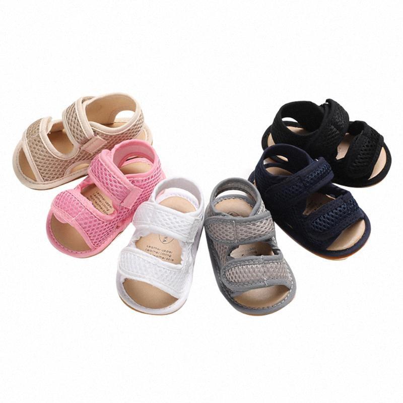 2020 2020 Premier bébé marchettes pour bébés tout-petits Filles Garçons Mesh Chaussures solides respirant évider Anti Slip dur # Outsole Chaussures n4dZ