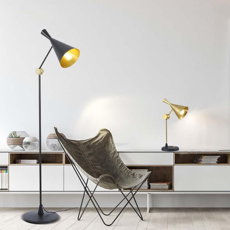 Nera moderna lampada da terra casa soggiorno sala da pranzo Studio Camera creativa Luce Verticale Standing illuminazione FA062
