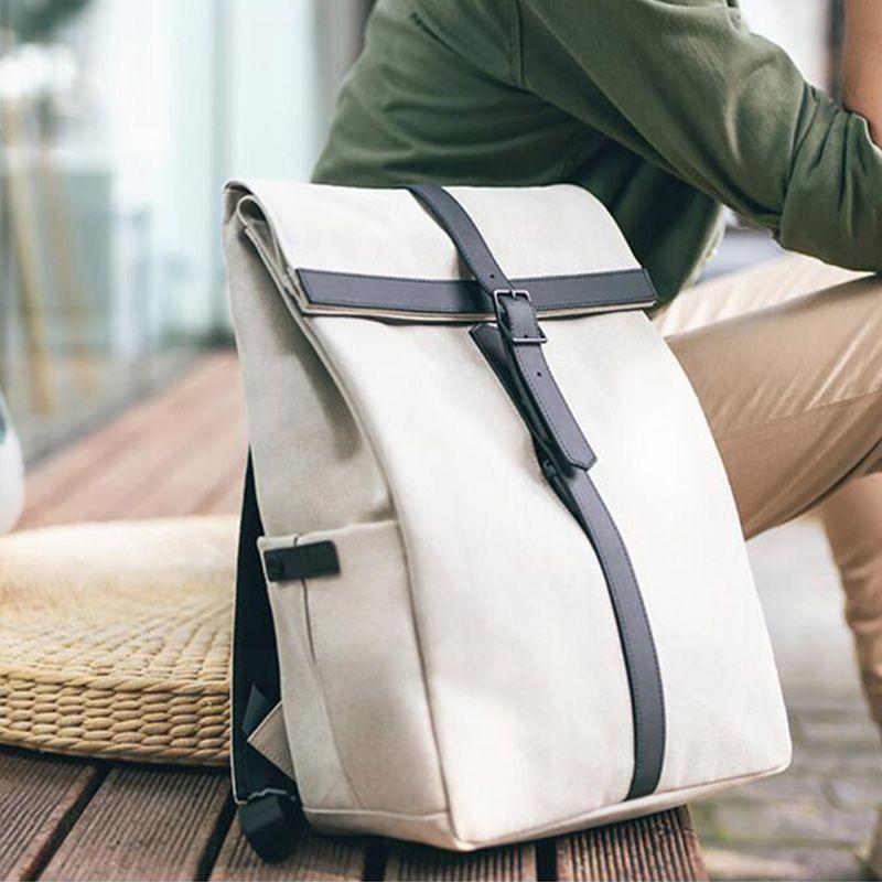Xiaomiyoupin NINETYGO 90FUN Grinder Oxford Casual Backpack 15.6 inch Laptop Bag British Style Bagpack for Men Women School Bags Boys Girls