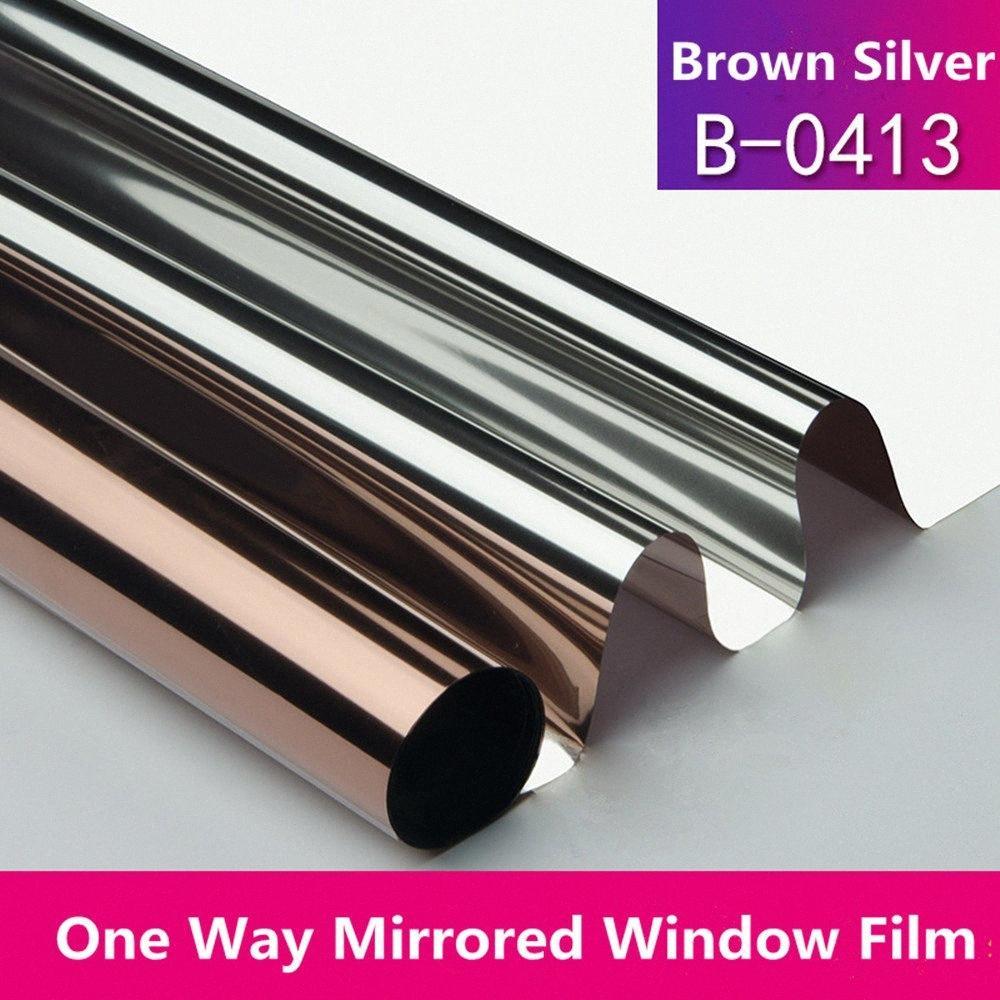 Auto adhesivo decorativo espejo tinte de la ventana de la película Tamaño Configuración de cristal Decoración de Cine de 100cm X 300cm DtZO #