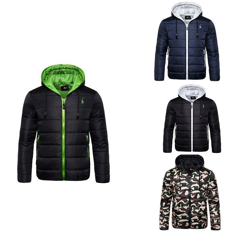invierno con capucha resistente al agua de 2020 nuevos hombres de la chaqueta de la capa de nieve parka de los hombres espesado cremallera de la chaqueta de camuflaje