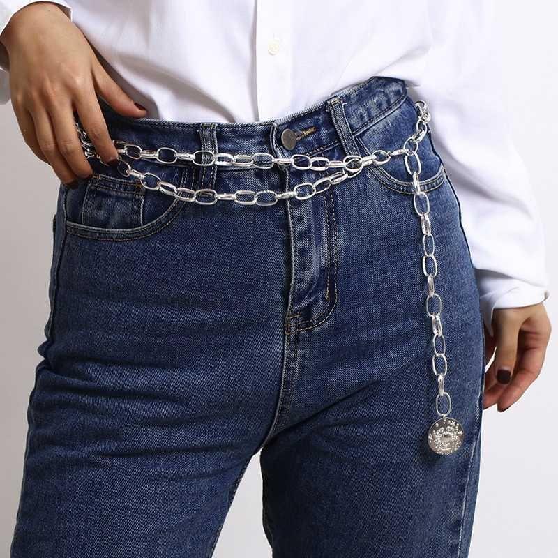 سلسلة أزياء السيدات حزام الخصر حزام شرابة للنساء 2020 معدن الفضة طويلة حزام السراويل قلادة ريم ceinture فام