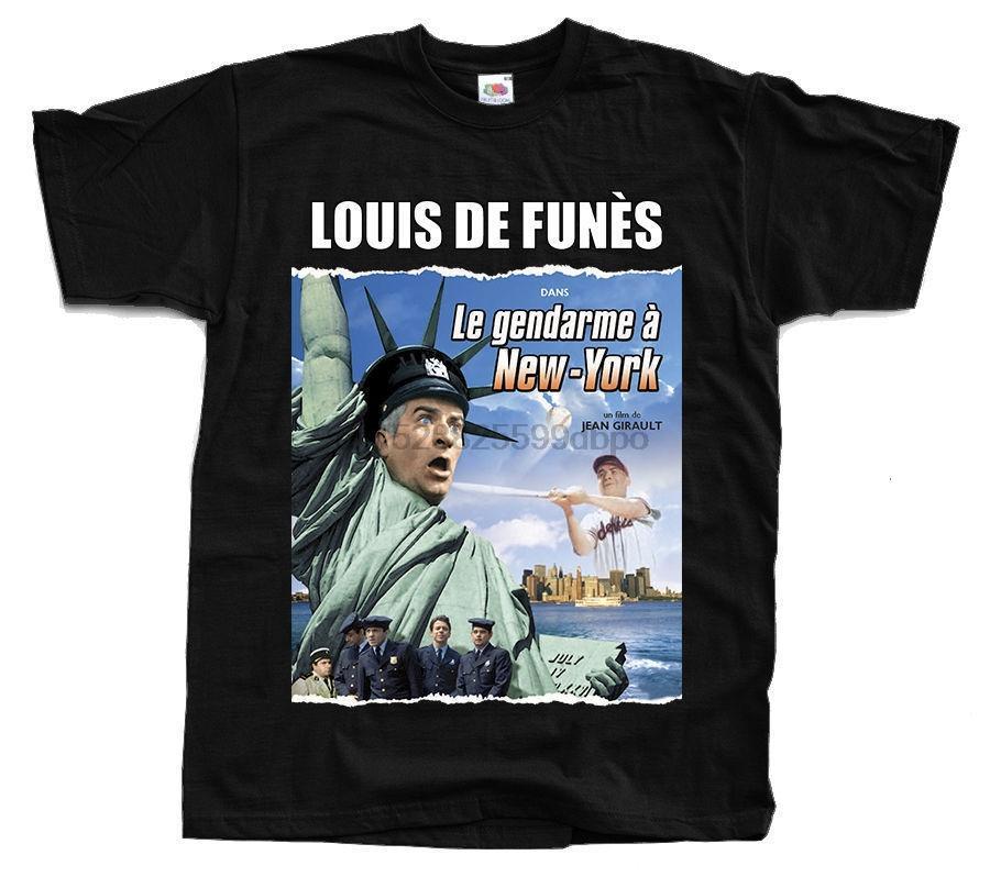 Le Gendarme Ein New York Ver 1 Plakat-T-Shirt Alle Größen S 5Xl Louis De Funes