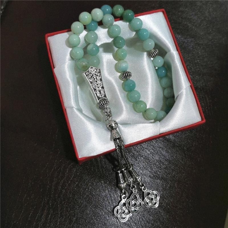 Al por mayor de Arabia Saudita Piedra 33 rebordea musulmanes Tasbih islámico del rezo del rosario wJF2 #